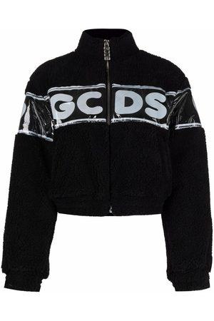 Gcds Women Fleece Jackets - Cropped teddy fleece jacket