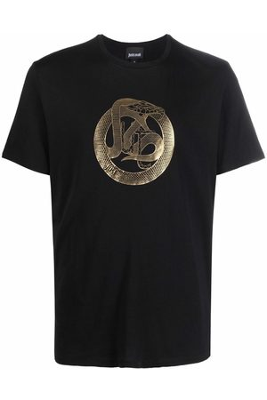 Roberto Cavalli Men Short Sleeve - Logo-print cotton T-shirt