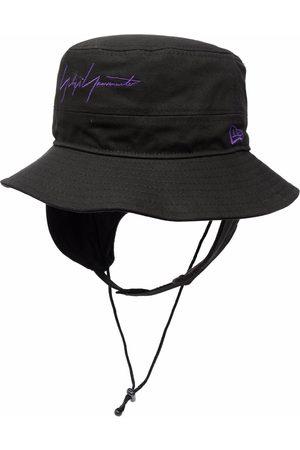 YOHJI YAMAMOTO Men Hats - Logo-embroidered sun hat