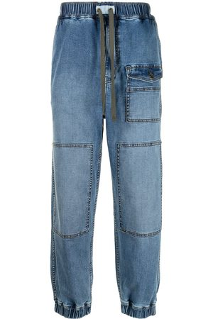 FIVE CM Mid-rise tapered jeans