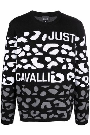 Roberto Cavalli Knitted logo jumper