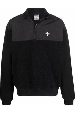 MARCELO BURLON Men Sweatshirts - Cross-motif panelled fleece