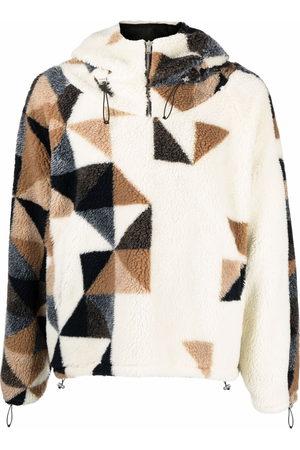 424 FAIRFAX Fleece geometric-detail sweatshirt