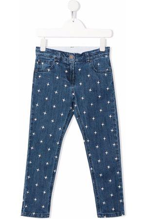 Stella McCartney Star-embroidery straight-leg jeans