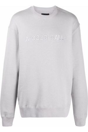 A-cold-wall* Men Sweatshirts - Logo-embroidered cotton sweatshirt