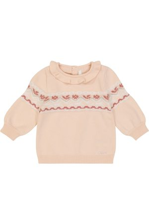 Chloé Baby Sweaters - Baby cotton and wool intarsia sweater