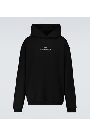 Maison Margiela Men Hoodies - Upside down logo hooded sweatshirt