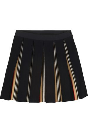 Burberry Women Pleated Skirts - Pleated wool-blend skirt