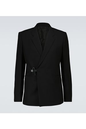 Givenchy Men Blazers - Padlock wool double-breasted blazer