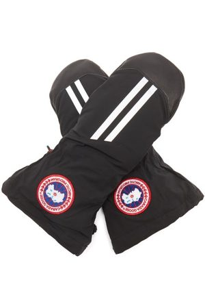 Canada Goose Snow Mantra Leather-trim Down-filled Mittens - Mens