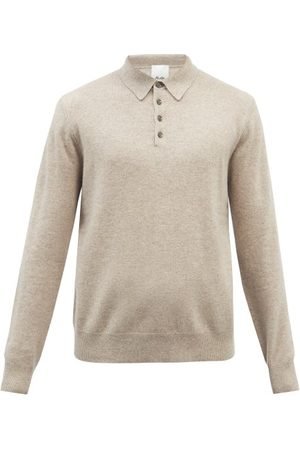 Allude Men Sweaters - Long-sleeve Cashmere Polo Sweater - Mens