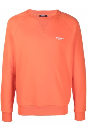 Balmain Men Sweatshirts - Small logo print sweatshirt