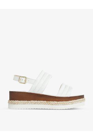 Dune Kazzy padded leather wedge sandals
