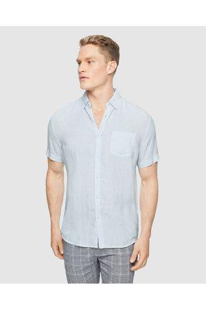 Tarocash Men Casual - Robbie Pure Linen Shirt - Casual shirts (ICE ) Robbie Pure Linen Shirt