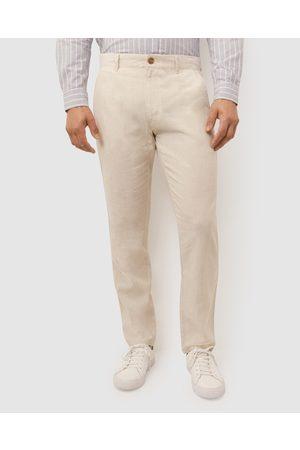 Sportscraft Linen Cotton Chinos - Pants (Hessian) Linen Cotton Chinos