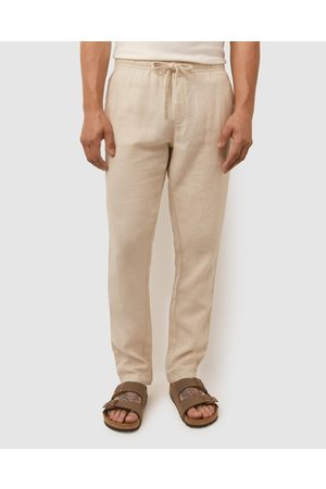 Sportscraft Men Chinos - Linen Ledger Pants - Pants (Hessian) Linen Ledger Pants