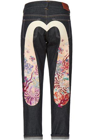 Evisu Women Boyfriend - Gradated Floral Motif Embroidered Daicock Boyfriend Jeans