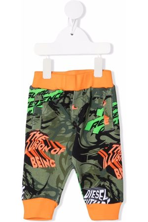 Diesel Camouflage-print cotton track trousers