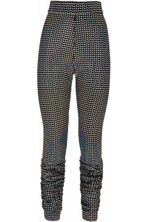 Dolce & Gabbana Women Leggings - High-waisted motif-print leggings