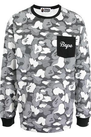 A BATHING APE® Shark camouflage-print long-sleeve top