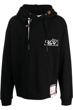 Maison Mihara Yasuhiro Men Hoodies - Graphic-print cotton hoodie
