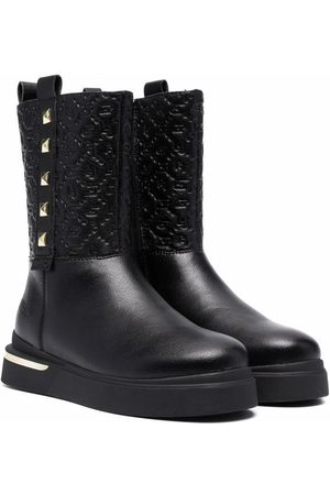 Liu Jo Studded logo embossed boots