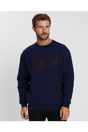 R.M.Williams R.M.W. Script Crew Neck Sweatshirt - Sweats (Navy) R.M.W. Script Crew Neck Sweatshirt