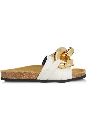 J.W.Anderson Thongs - Chain Leather Slides