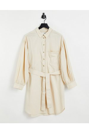 SELECTED Women Casual Dresses - Cecile shirt dress in cream-White