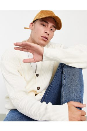 Topman Oversized knitted cardigan in -White