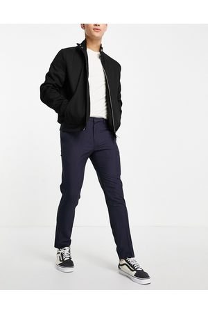 Burton Burton skinny fit check suit pants in mid