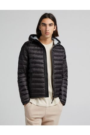 Bershka Men Winter Jackets - Quilted hooded jacket in