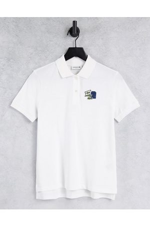 Lacoste Logo detail polo shirt in white