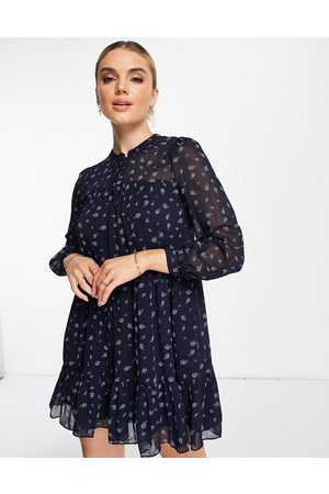Whistles Paisley print tiered dress in blue