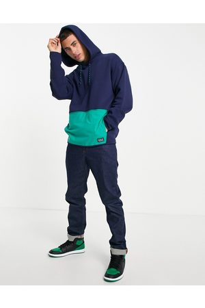 Levi's Utility front pocket colourblock hoodie in navy
