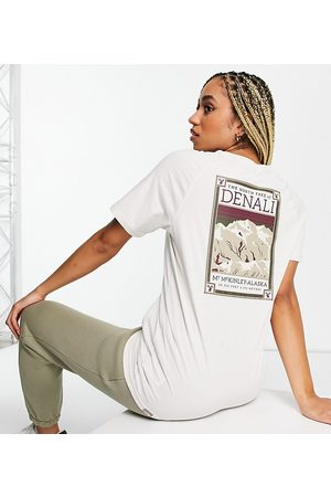 The North Face Faces t-shirt in cream Exclusive at ASOS-White