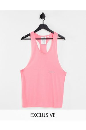 COLLUSION Tank Tops - Unisex neon singlet in pink