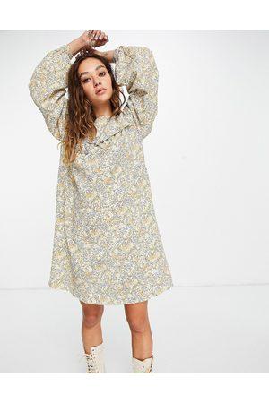 VILA Women Printed Dresses - Puff sleeve smock dress in print-Multi