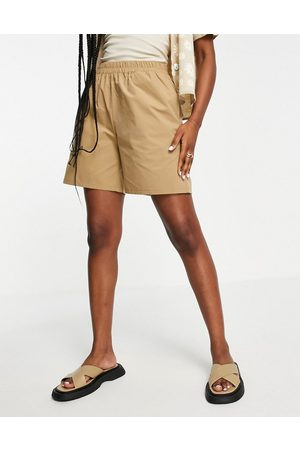 Object Frigg loose fit short co-ord in beige-Neutral