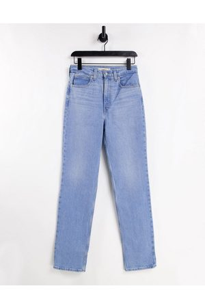 Levi's 70s straight leg jeans in mid wash-Blue