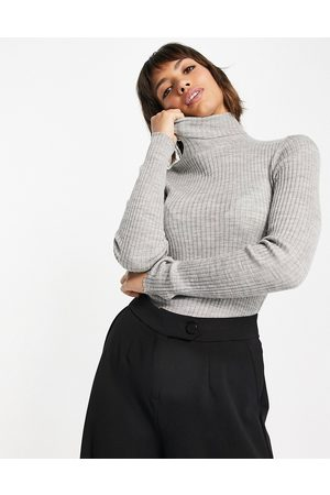 SELECTED Costa roll neck jumper in grey