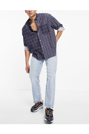 SELECTED Organic cotton loose tapered fit jeans in lightwash blue