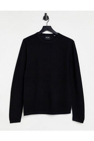 Only & Sons Textured jumper with crew neck in