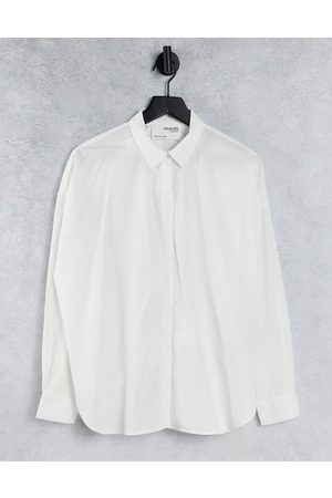 SELECTED Femme organic cotton long sleeve shirt in