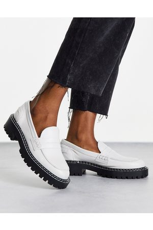 Schuh London chunky leather loafers in -White