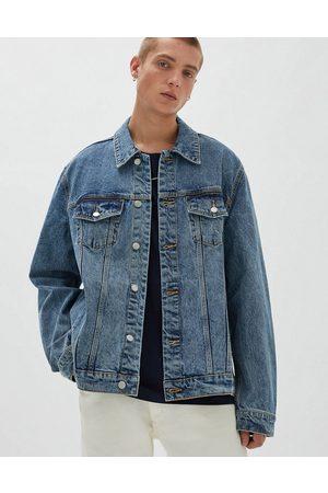 Pull&Bear Denim trucker jacket in