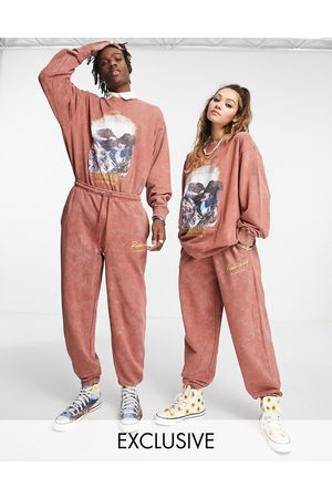 Reclaimed Inspired unisex trackies in washed