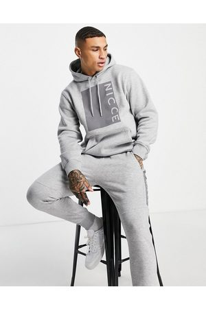 Nicce London Cube reflective box print hoodie in