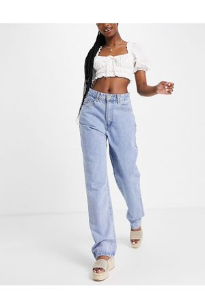 Cotton On Cotton: On relaxed straight leg jeans in mid wash blue