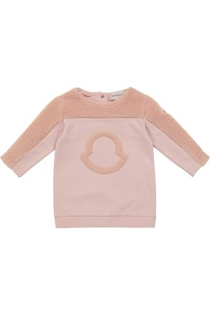 Moncler Baby logo stretch-cotton sweatshirt dress